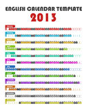 2013 Calendar Template Stock Photography