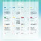 2013 Calendar Vector Illustration Stock Photography
