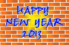 2013 card. Happy new year 2013 card in wall painted style Stock Photos