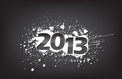 2013 card. Creative Calligraphy 2013, Happy new year, Year of snake design Royalty Free Stock Photo