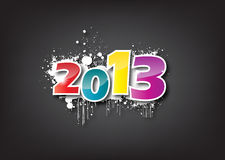 2013 card. Creative Calligraphy 2013, Happy new year, Year of snake design vector illustration