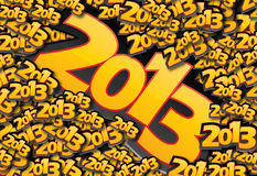 2013 card. Happy New Year design with 2013 text vector illustration