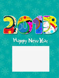 2013 card. 2013 abstract celebration card with room for text vector illustration