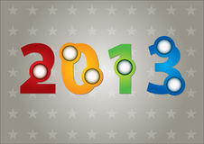 2013 Card. With abstract text and background vector illustration