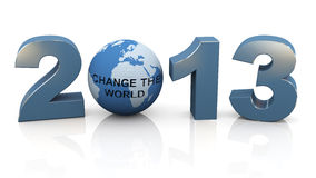 2013 - Change the world Stock Image