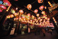 2013 Chinees de lantaarnfestival van het Nieuwjaar en tempelmarkt Stock Afbeeldingen