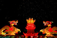 2013 chinese lantern festival in xi'an-CHINA DRAGON Royalty Free Stock Photo
