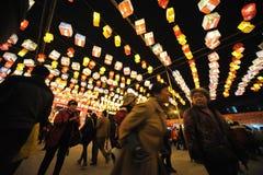 2013 Chinese-Laternen-Festival in Chengdu Lizenzfreies Stockbild