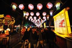 2013 Chinese-Laternen-Festival in Chengdu Lizenzfreie Stockbilder