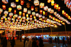 2013 Chinese New Year lantern festival and temple fair Stock Photo