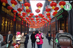 2013 Chinese New Year Temple Fair in Chengdu stock image