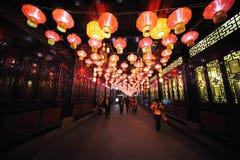 2013 Chińskiego nowego roku latarniowego festiwalu i świątyni jarmarków Obrazy Royalty Free