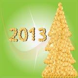 2013.Christmas δέντρο των χρυσών νομισμάτων. Στοκ εικόνες με δικαίωμα ελεύθερης χρήσης