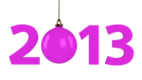 2013 with christmas ball Royalty Free Stock Photo