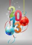 2013 christmas balls. Illustration of 2013 text with christmas balls Royalty Free Stock Image