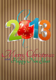 2013 christmas balls. Illustration of 2013 text with christmas balls stock illustration