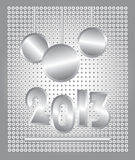 2013 christmas card. Steel textured 2013 christmas card vector illustration