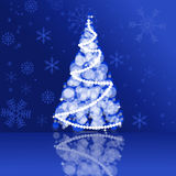 2013 Christmas card in blue colors Royalty Free Stock Photography