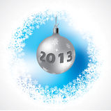 2013 Christmas decoration on abstract background. 2013 Christmas decoration on abstract icy blue background Stock Image