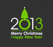 2013 christmas design made with christmas tree. Abstract background Stock Images
