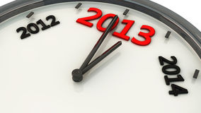 2013 in a clock in 3d Royalty Free Stock Image