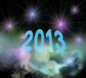 2013 on clouds Stock Images