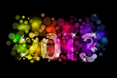 2013 colorful background. Vector Happy New Year - 2013 colorful background Royalty Free Stock Photography