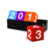 2013 Colorful box. 3D Render Countdown New Year Celebration 2013 Colorful box vector illustration