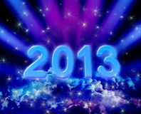 2013 on colorful clouds Stock Photos