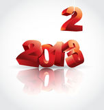 2013 is coming. Vector illustration of upcoming 2013 year Stock Photography