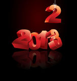 2013 is coming. Illustration that can be used for up coming 2013 Royalty Free Stock Images
