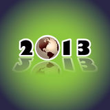 2013 concept with planet Earth Stock Photography