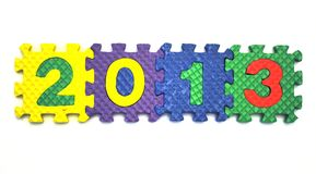 2013 - connect blocks - close up. View Royalty Free Stock Photos