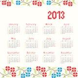 2013 cross stitch ethnic calendar. Vector illustration Royalty Free Illustration