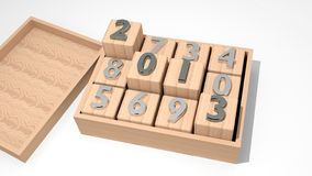 2013 on cubes Stock Photo