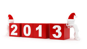 2013 cubes Stock Image