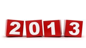 2013 cubi Immagine Stock Libera da Diritti