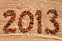 2013 - Dígitos de piedra Imagen de archivo