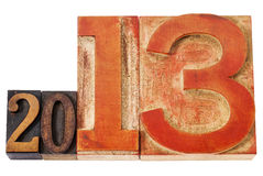 An 2013 dans le type en bois Images libres de droits