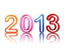 An 2013 dans les chiffres colorés de fil Image libre de droits