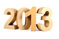 2013 dans les numéros 3D de papier Photos libres de droits
