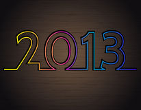 2013 on the dark metal background Royalty Free Stock Images
