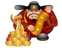 2013 de Chinese Welvaart van de Rol van de Slang van de God van het Geld royalty-vrije illustratie