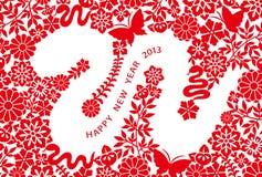 2013 de kaart van het Nieuwjaar Stock Fotografie