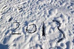 2013 in de sneeuw Stock Afbeelding