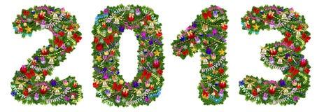 2013. Decoración del árbol de navidad Imagen de archivo libre de regalías