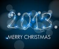 2013 des lumières bleues électroniques digitales Photo libre de droits