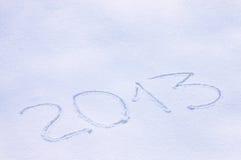 2013 desenhado em uma neve Foto de Stock