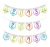 2013 design bunting flags. Vector set of isolated 2013 design bunting flags stock illustration