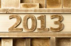 2013 di legno Fotografia Stock Libera da Diritti